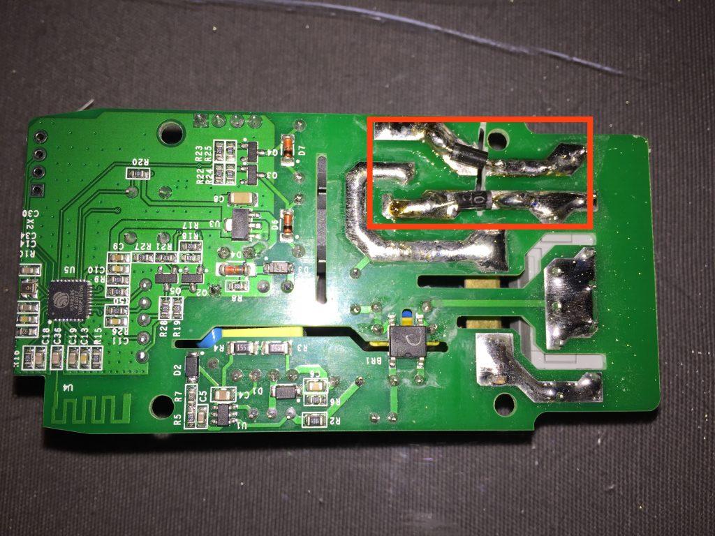 Piloter un radiateur Installation des Diodes pour sonoff dual R2
