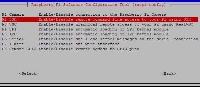 Stretch Raspi Config interfacing SSH