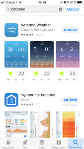 Application NETATMO