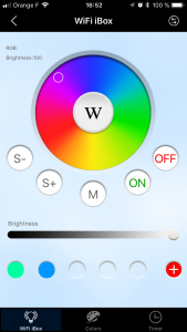 Couleur Application Mi-Light ibox