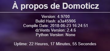 Domoticz version 4-9700
