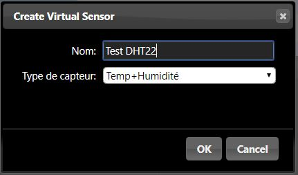 Domoticz Virtual Sensor DHT22