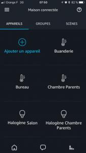 Eléments domoticz dans Alexa