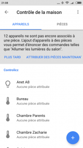 Controlicz et Google Home Dispositifs
