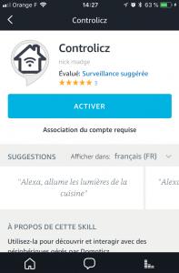 Skills Controlicz Alexa