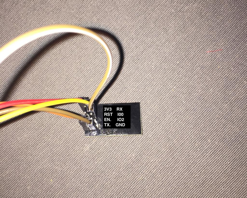 Branchement FTDI pour flasher un ESP-01 avec ESPeasy