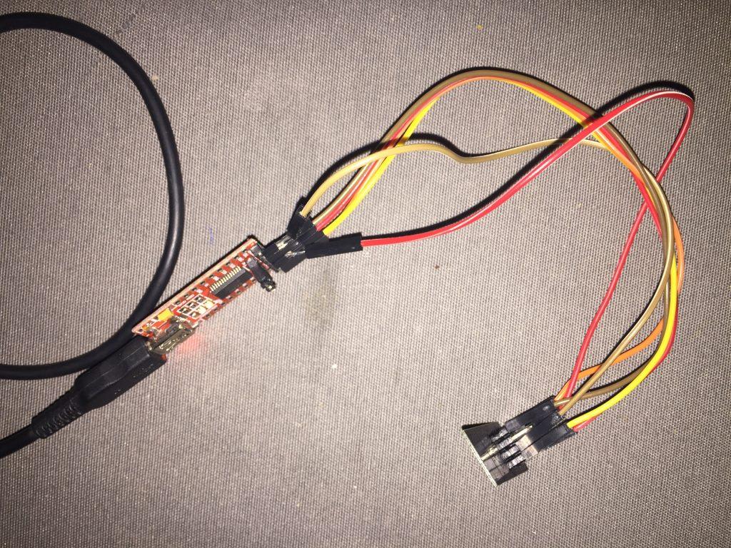 Cablage FTDI pour flasher un ESP-01 avec ESPeasy