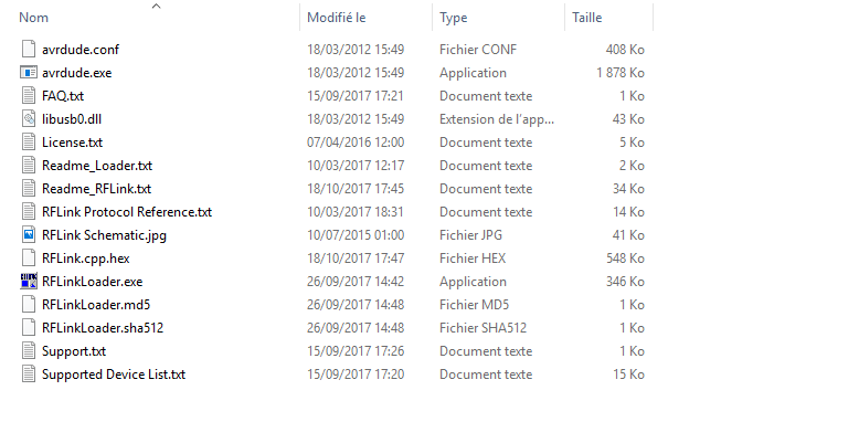 Fichier du RFLinkLoader